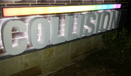 Reverse lit channel letters - Sign Assing